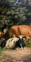 William Joseph Shayer Senior 'Attributed To' 19th Century Oil Painting Cattle & Sheep Resting in a Landscape (11 of 12)