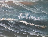 Clipper Sailing Ship Seascape Marine Oil Painting (4 of 6)