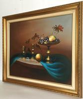 Still Life Fruit Oil Painting by Jozsef Molnar (4 of 7)