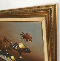 Still Life Fruit Oil Painting by Jozsef Molnar (5 of 7)