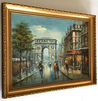 Impressionist Parisian Oil Painting Arc De Triomphe (2 of 6)