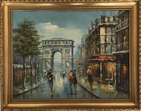 Impressionist Parisian Oil Painting Arc De Triomphe