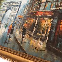 Impressionist Parisian Oil Painting Arc De Triomphe (4 of 6)