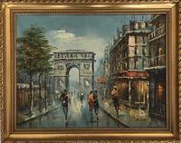 Impressionist Parisian Oil Painting Arc De Triomphe (6 of 6)