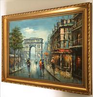 Impressionist Parisian Oil Painting Arc De Triomphe (3 of 6)