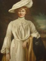 Huge 19th Century Edwardian Oil Portrait of Lady Dunbar of Mochrum by John Horsburgh