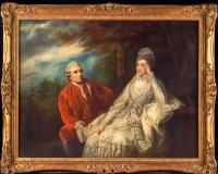18th Century Oil Portrait of David Garrick & Wife Eva Circle of Sir Joshua Reynolds