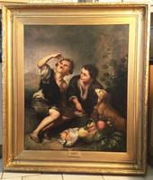 the Pie Eaters After Bartolome Esteban Murillo Oil Painting On Canvas C.1820