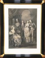 Portrait Engraving of Princess Bariatinski Family after Angelica Kauffman c.1793