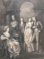 Portrait Engraving of Princess Bariatinski Family after Angelica Kauffman c.1793 (4 of 7)