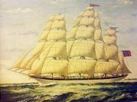 Seascape Oil Painting of 'Clipper Saling in Choppy Seas'