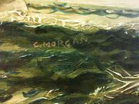 Seascape Oil Painting of 'Clipper Saling in Choppy Seas' (3 of 4)