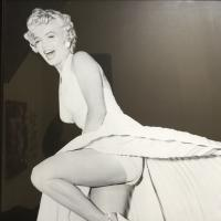 Marilyn Monroe Enlarged Photo Print On Board C.1950
