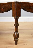 Victorian Mahogany Ornately Carved Love Seat (10 of 10)