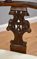 Victorian Mahogany Ornately Carved Love Seat (4 of 10)