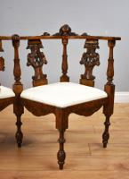 Victorian Mahogany Ornately Carved Love Seat (2 of 10)