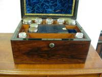 19th Century Fitted Rosewood Dressing Table Jewellery Box
