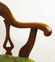 Victorian Mahogany and Leather Swivelling Desk Chair (4 of 7)