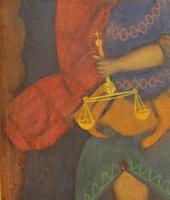 Antique Peruvian Inca Painting - Cusco School - Cuzqueña, 18th Century (4 of 9)
