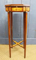19th Century Mahogany & Satinwood Neoclassical Urn Stand C.1890 (12 of 12)
