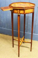 19th Century Mahogany & Satinwood Neoclassical Urn Stand C.1890 (2 of 12)