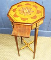 19th Century Mahogany & Satinwood Neoclassical Urn Stand C.1890 (6 of 12)