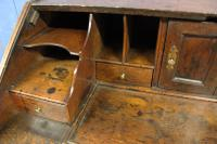 Early 18th Century Oak Bureau. Small Size, Step & Well Interior C.1725 (7 of 13)