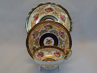 Cauldon Handpainted Cabinet Trio c.1905