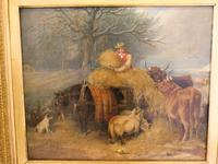 Fine Victorian Oil Painting On Canvas By Edward Lloyd c.1875 (4 of 4)