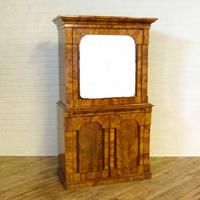 Continental Mahogany Cabinet / Cupboard c.1880