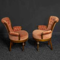 Pair of Boudoir Chairs c.1890 (11 of 11)