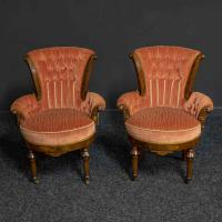 Pair of Boudoir Chairs c.1890 (4 of 11)