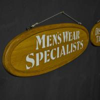 Pair of Edwardian Oak Framed Tailors Signs (4 of 10)