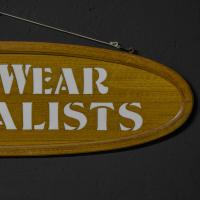 Pair of Edwardian Oak Framed Tailors Signs (6 of 10)