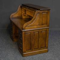 Edwardian Oak Roll Top Desk (9 of 11)