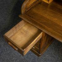 Edwardian Oak Roll Top Desk (6 of 11)