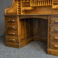 Edwardian Oak Roll Top Desk (7 of 11)
