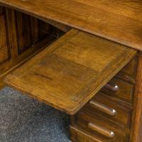Edwardian Oak Roll Top Desk (8 of 11)