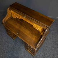 Edwardian Oak Roll Top Desk (4 of 11)