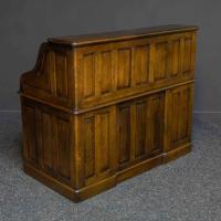 Edwardian Oak Roll Top Desk (10 of 11)