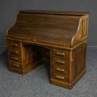 Edwardian Oak Roll Top Desk (2 of 11)