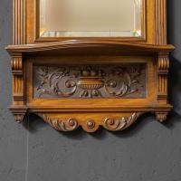Victorian Walnut Hall Mirror (7 of 8)
