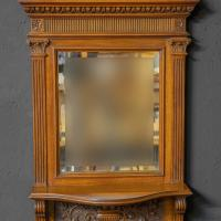 Victorian Walnut Hall Mirror (6 of 8)