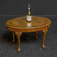Oval Walnut Coffee Table c.1930