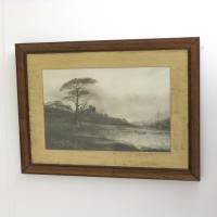 Victorian Waterscape Black & White Print