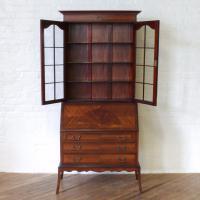 Mahogany Bureau Bookcase (12 of 14)