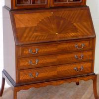 Mahogany Bureau Bookcase (6 of 14)