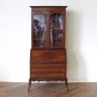 Mahogany Bureau Bookcase (13 of 14)