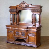 Victorian Pollard Oak Sideboard (20 of 22)