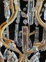 One Light Italian Small Cage Antique Chandelier (9 of 11)